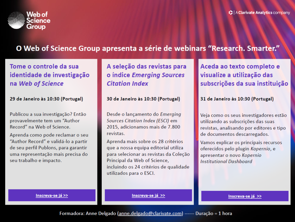 202001_Web of Science_Webinar invitations_for Portugal
