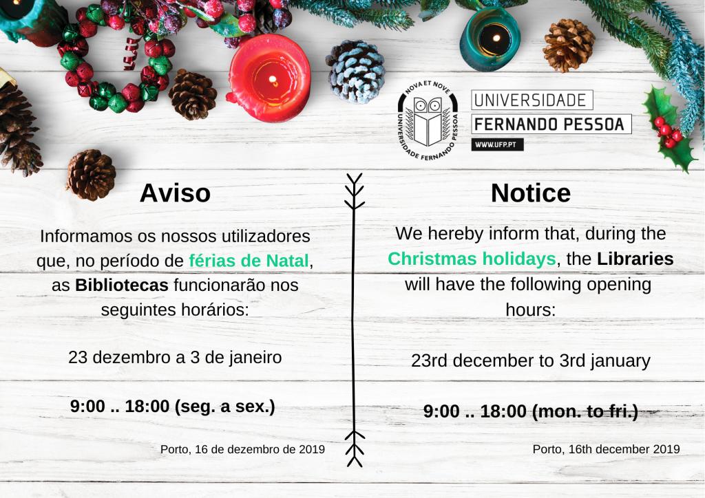 Horario de Natal 2019